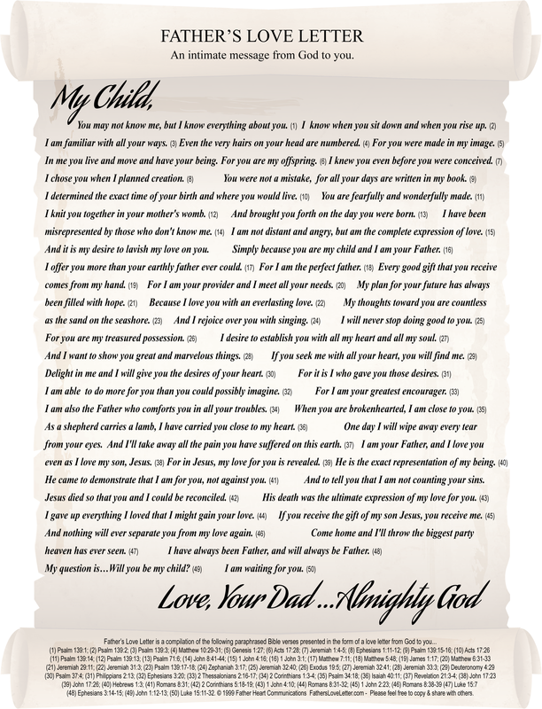 Fathers love letter com dolapgnetband fathers love letter com thecheapjerseys Images