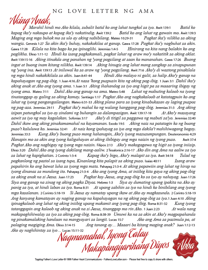 tagalog fathers love letter 85x11 pdf right click to download left click to view online